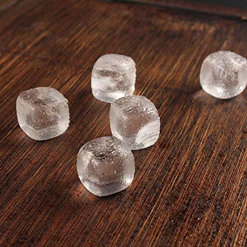 Supererm Whisky-Steine, Marmor Eiswürfel, wiederverwendbar, geschmacksneutral, ohne Verdünnung, für Likör, Saft, kalte Getränke (9 Stück) glas