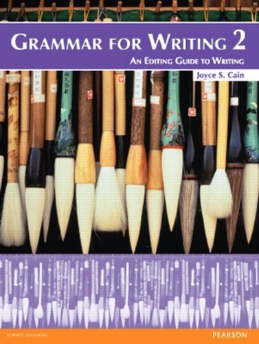 Grammar for Writing 2 (Student Book alone) 2nd edition by Cain, Joyce S. (2012) Paperback