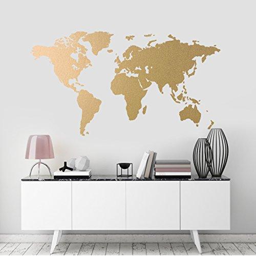 Weltkarte Wandkunst-Aufkleber, moderne Zimmerdekoration, abnehmbares Vinyl-Abziehbild