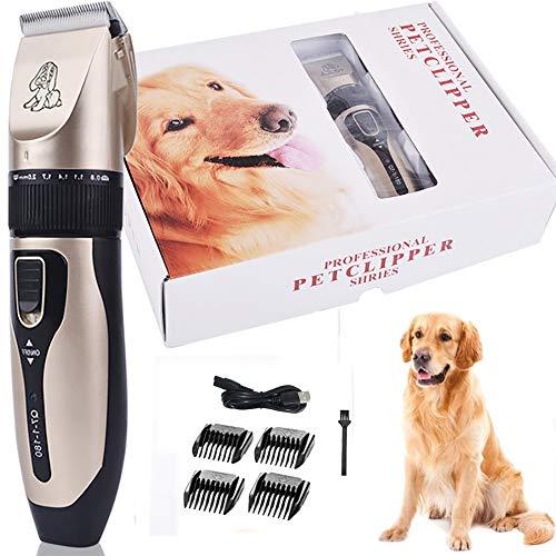 YWJH Tierhaarschneider, Hunde Schermaschine, Wiederaufladbare Elektrische Hundeschermaschine Hundetrimmer für Hunde Katzen Haustier