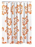 RIDDER Duschvorhang Folie Flowerpower inkl. Ringe orange 180x200 cm
