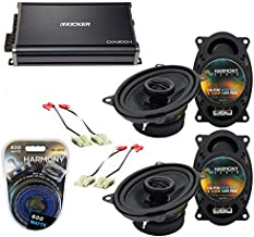 Compatible with Chevy CK Truck (Full Size) 88-94 Speaker Upgrade Harmony (2) R46 & CXA300.4 Amp (Renewed)