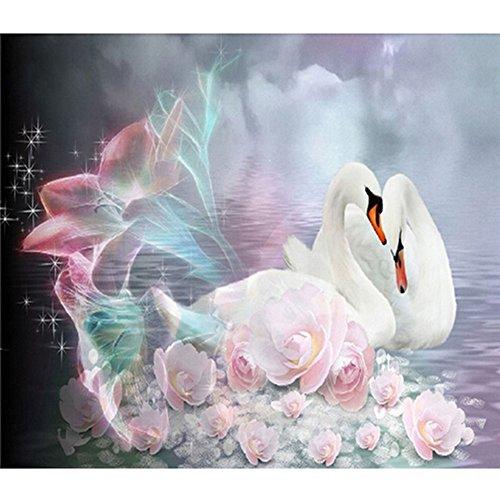 Display08 Animal Motif diamant Broderie Peinture Craft Room Décoration murale Swan#