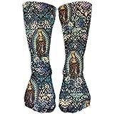 Jesse Tobias Patrón de la Virgen de Guadalupe Calcetines de compresión deportivos divertidos unisex Calcetines de barco para correr Calcetines Calcetines bajos