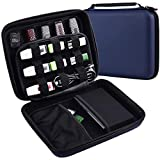 USB Flash Drive Case - Thumb Drive Holder Organizer, Memory Card SD SDXC SDHC Card Storage Bag, Hard Drive Electronic Accessories Box for 28+ Sandisk/Thumb/WD and Any Flash Drive(Blue)