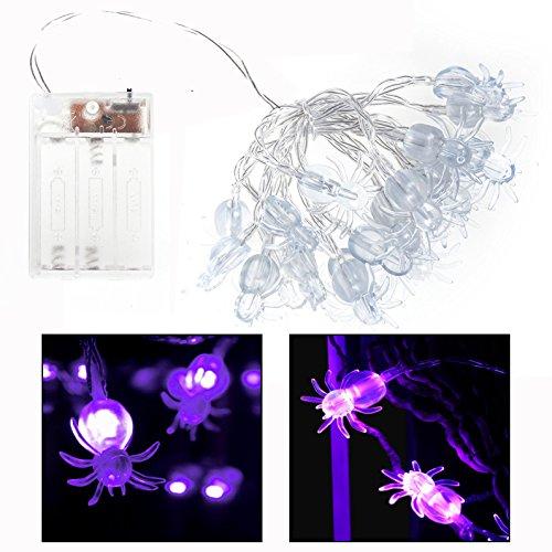 OFKPO 20 LED de Lumière D'araignée, Lumières de Noël et Halloween Lumières de Décoration