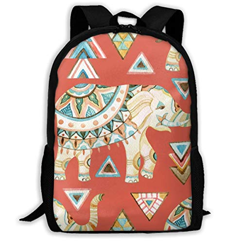 AOOEDM Travel Backpack Laptop Backpack Large Diaper Bag - Indian Elephant Backpack School Backpack for Women and Men