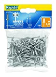 Rapid 5000379 - Rivetti Standard in alluminio e metallo, 4 x 12 mm, confezione da 100 pezzi