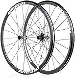 L.BAN Juego de Ruedas de Bicicleta 700C, llanta de aleación de Aluminio de 30 mm, Rueda Delantera, Freno de Disco de Rueda Trasera, Ruedas de Ciclismo de liberación rápida, rodamientos de 32 H PAL