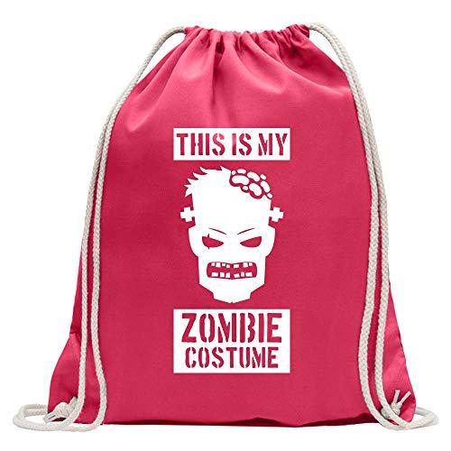 Kiwistar This is My Zombie Costume - Mochila de deporte, de algodón, con correa, rosa, Talla única