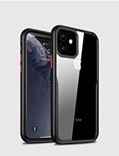 MOKO iphone 11 Case, Transparent Hard Back Flexible Black Frame