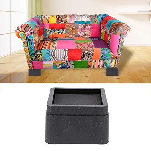 Ruiqas Möbel Riser Höhe in Höhen 2 Zoll Verstellbare Quadratische Sessellifte für Sofa Couch Tisch Bett (4 Stück)