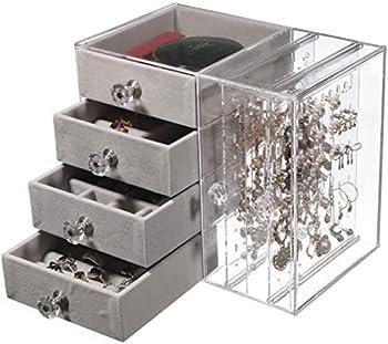 Cq acrylic Jewelry Box with 4 Drawers