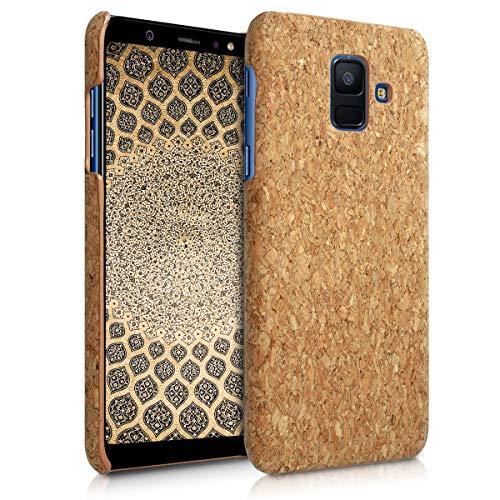 kwmobile Hülle kompatibel mit Samsung Galaxy A6 (2018) - Kork Handyhülle - Handy Case Cover Schutzhülle in Hellbraun
