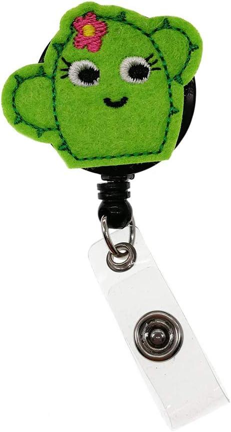 Cute Succulent Cactus Nurse Industry No. 1 Felt Badge Max 50% OFF Name Reel ID Retractable