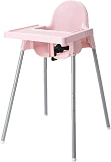 Baby Chair 2 in 1 Function Portable Adjustable Height Toddler Highchair Safety Seat for Feeding
