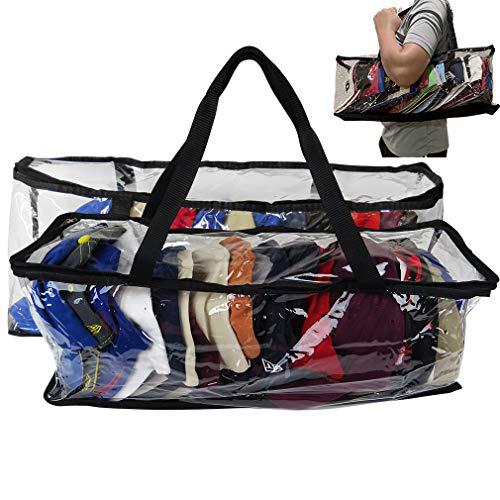 Evelots Sport Hat/Cap Storage Bag-Baseball-Handles-No Dust/Moisture-15 Hat-Set/2