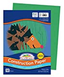 SunWorks Construction Paper, Holiday Green, 9' x 12', 50 Sheets