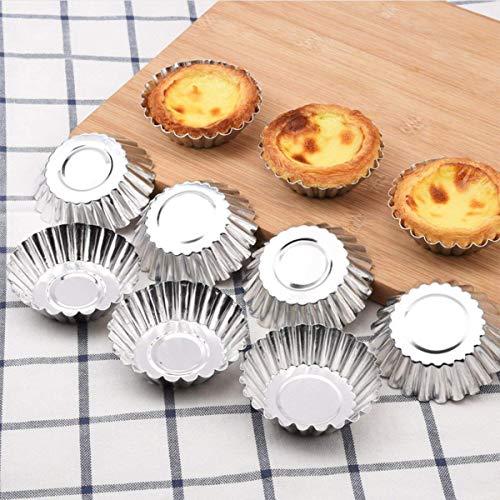 ADESUGATA 32 Pz Stampo per torta Cupcake, Stampi per budini, muffin per torta, Alluminio Torta per uova Torta per cupcake Stampo a forma di fiore Stampo per budino Utensili di cottura riutilizzabili