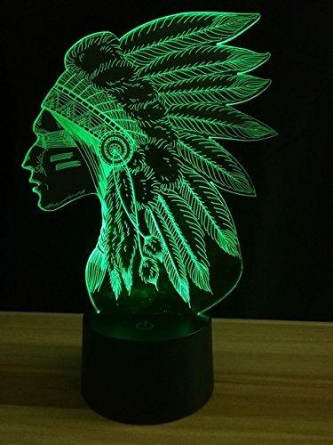Luz de noche de los Emiratos Árabes Unidos 3D luz de noche óptica ilusión 7 interruptor táctil que cambia de color lámpara de decoración de mesa juguete USB