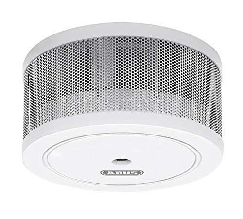 ABUS Mini-Rauchmelder GRWM30600 - geeignet für Wohnräume, Kellerräume, Wohnmobile - 10 Jahres Batterie - 85 dB lauter Alarm - Weiß