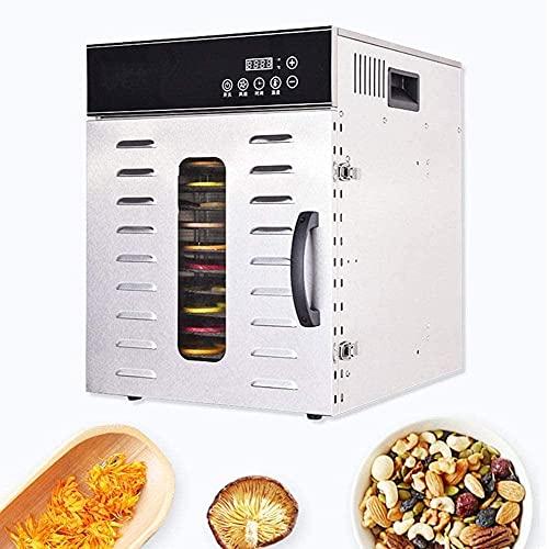 WXking Deshidratador de alimentos 12 capas de deshidratador de alimentos inteligentes, 30-90 ° C Ajustable, acero inoxidable, secado uniforme 360 ° Máquina de secador de frutas y verduras grande par