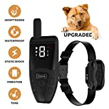 [All-New 2019] Dog Shock Training Collar with Remote   Heavy-Duty, Long Range 1000 ft, Rechargeable & IPX7 Waterproof   E-Collar Shock Collar for Dogs Small, Medium, Large Size, All Breeds