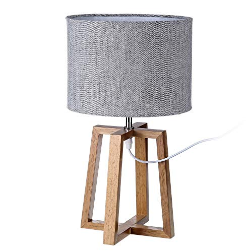Lámpara de sobremesa nórdica marrón de madera para salón Fantasy - LOLAhome