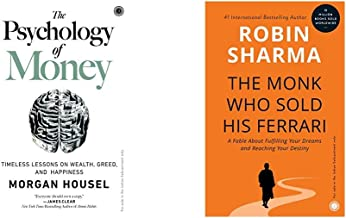 The Psychology of Money+The Monk Who Sold His Ferrari(Set of 2 Books)