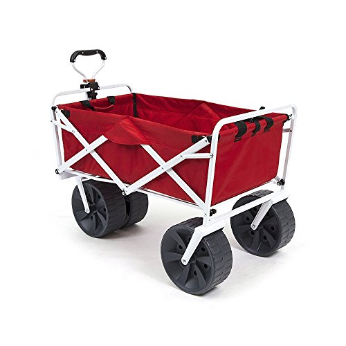 Mac Sports Heavy Duty Collapsible Folding All Terrain Utility Wagon Beach Cart -...