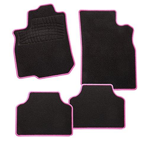 CarFashion Auto deurmat Calypso-textiel. 4-teilig roze