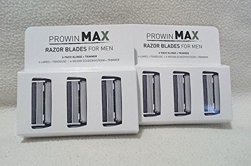 PROWIN MAX RAZOR BLADES FOR MEN, 3 Stück ---Doppelpack---