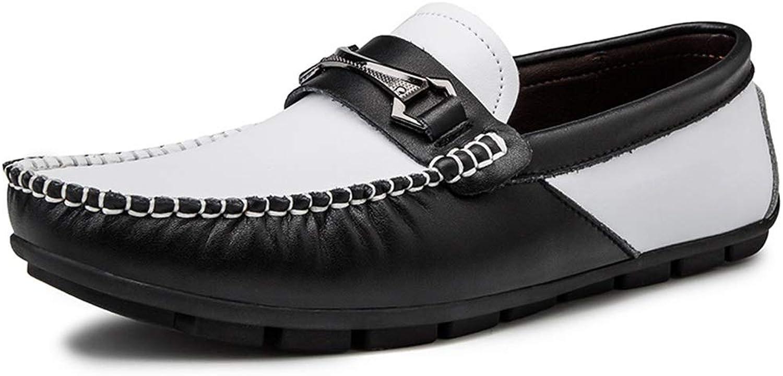 Easy Go Shopping Sommer Loafer für Mnner Leichte Penny Oxfords Echtes Leder Casual Driving Stiefelschuhe,Grille Schuhe