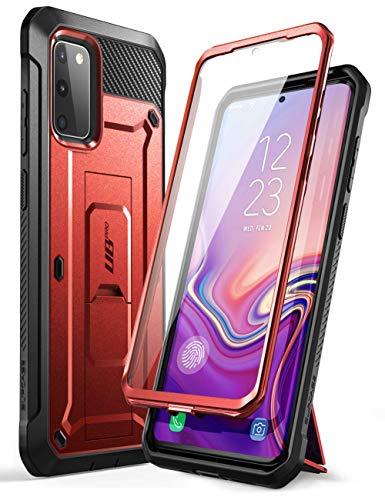 """SupCase Outdoor Hülle für Samsung Galaxy S20 FE (6.5\"""") 2020 Handyhülle Bumper Case 360 Grad Schutzhülle Cover [Unicorn Beetle Pro] mit Integriertem Displayschutz und Ständer (Rot)"""