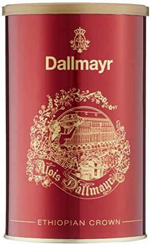 Dallmayr Kaffee Schmuckdose Ethiopian Crown 250g Filterkaffee rot, 1er Pack (1 x 0.25 kg)