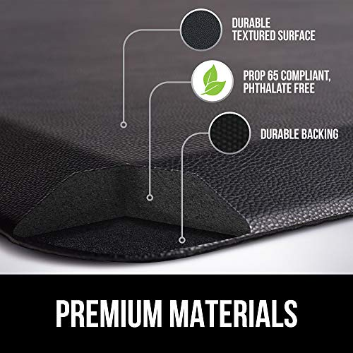 GORILLA GRIP Original Premium Anti-Fatigue Runner Comfort Mat, 70x24,    Phthalate Free, Ergonomically Engineered, Extra Support and Thick, Kitchen, Laundry, and Office Standing Desk, Black