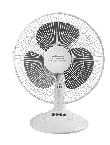Lakewood Oscillating Table Fan, 12 Inch (LDF1210B-WM)