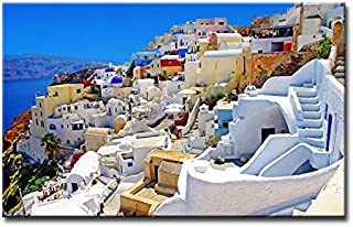So Crazy Art Wall Art Painting Santorini Greece Pictures Prints On Canvas City The Picture Decor Oil For Home Modern Decoration Print