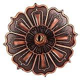 Incensario Antiguo, Incensario De Cobre, Color Simple Resistente, Clásico Y Digno para El Hogar De Incienso De Hilo(Lotus Sambo)