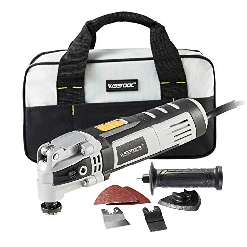 Cheapest Price! WISETOOL 400W 3.5 Amp Oscillating Multi Tool Kit with 4.5° Oscillation Angle,6 Vari...