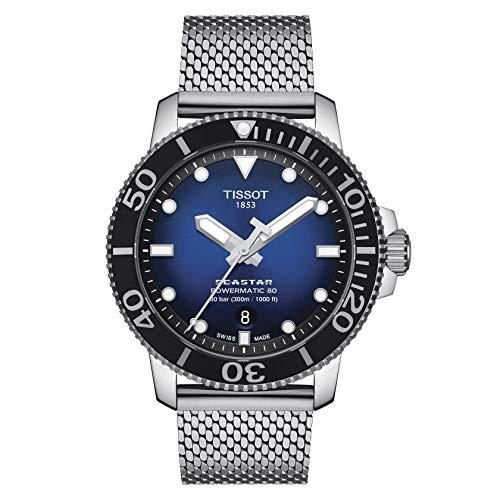 Tissot Herren-Taucheruhr Seastar 1000 Powermatic 80 Blau T120.407.11.041.02