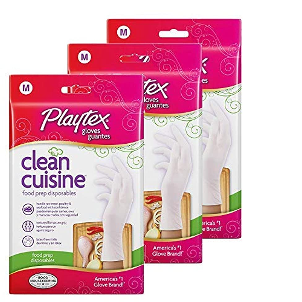Playtex CleanCuisine Disposable Gloves Medium - 30-Count Package (Pack of 3)