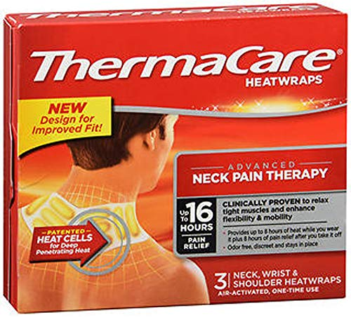 ThermaCare HeatWraps Neck, Wrist & Shoulder - 3 ct, Pack of 3