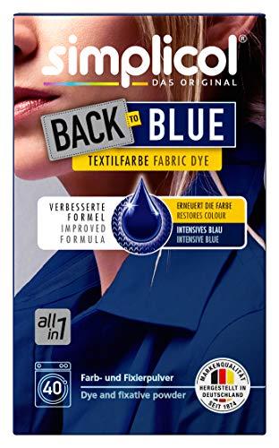 Simplicol Farberneuerung Back-to-Blue, Blau: Farbauffrischung und -Erneuerung in der Waschmaschine, Hautfreundlich, All-in-1 DIY Färbemischung mit Textilfarbe für Stoffe [alte Version]