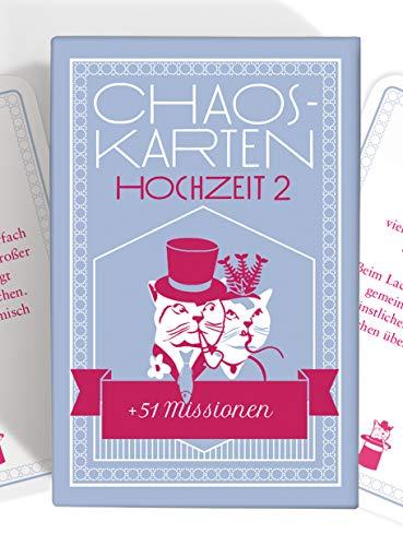 Chaoskarten Hochzeitsspiel – Erweiterungsset – 51 Neue Aufgaben für eine lustige Hochzeit