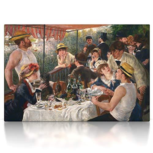 CanvasArts Frühstück der Ruderer - Pierre-Auguste Renoir - Leinwand Bild auf Keilrahmen (100 x 70 cm, Leinwand auf Keilrahmen)