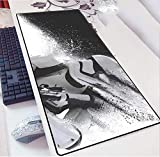 Zenghh Xl esteso Gaming Mouse Pad - Computer Laptop Desk Mat - Film Star Wars: Esercito Stormtrooper - Superficie migliora velocità e precisione - antiscivolo in gomma Base - bordi rifiniti