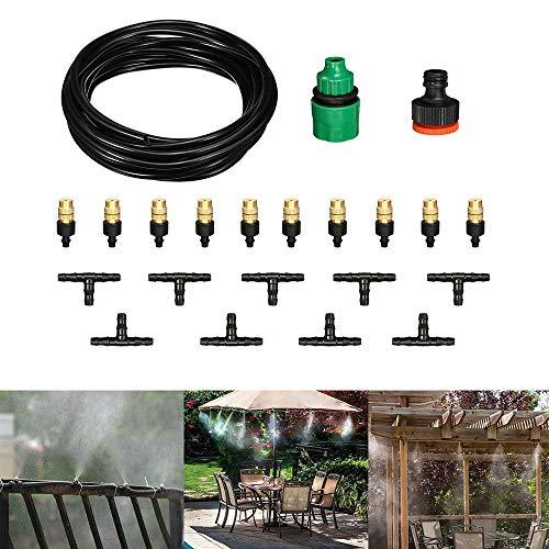 DyNamic 22 stks/set 5 M Slang Outdoor Cool Patio Vernevelingssysteem Ventilator Koeler Water Mist Automatische Spuit Mist Koelvloeistof Drip DIY Tuin Irrigatiesysteem