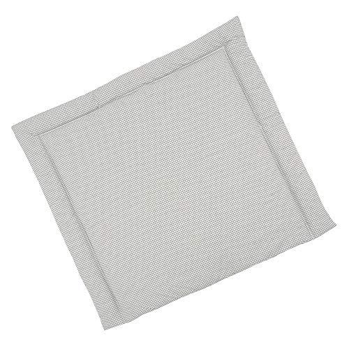 Sugarapple Wickelauflage 75x75 cm, ca. 3 cm dick mit Oberstoff aus 100% Baumwolle, innen weich und warm wattiert, doppelt abgesteppte Nähte und machinenwaschbar, Karo grau