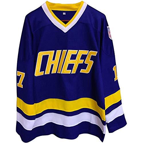 XIAORU Männer Eishockey Kleidung Training Trikots Outdoor Sports Atmungsaktive NHL Männer Sweatshirts Atmungsaktives langarmes T-Shirt,Blue 17,XXL